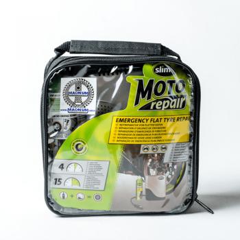 Slime etanșant anvelope + compresor Moto Repair