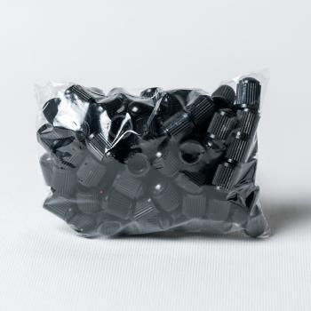 Căpăcel ventil plastic negru